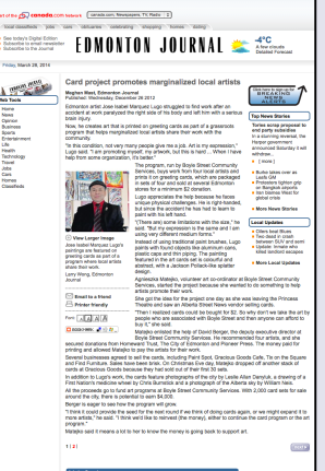 Edmonton Journal - Community Projects (1)